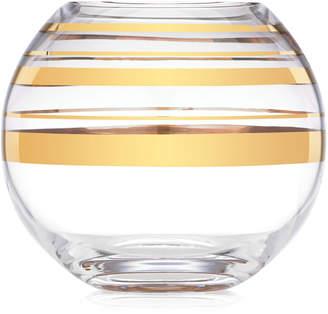 Kate Spade Hampton Street Gold Striped Rose Bowl Vase