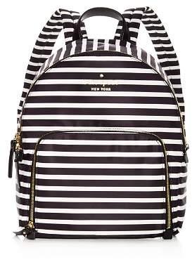 Kate Spade Watson Lane Hartley Striped Nylon Backpack