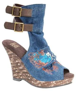 Muk Luks Women's Sage Peep Toe Wedge Sandal