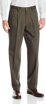 Dockers Classic Fit Signature Khaki Pant - Pleated D3, Dark Pebble/Stretch, 34 36