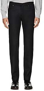 Marco Pescarolo Men's Cashmere Flannel Slim Pants-Charcoal