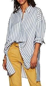 Isabel Marant Women's Maca Striped Oversized Button-Down Blouse - Blue