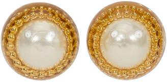 One Kings Lane Vintage 1970s Oversize Chanel Pearl Earrings