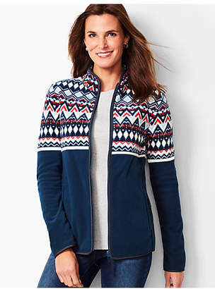 Talbots Fair Isle Polar Fleece Jacket