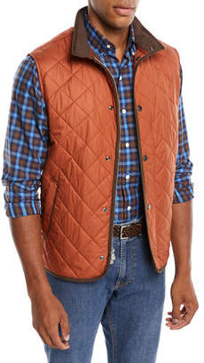 Peter Millar Men's Essex Snap-Front Quilted Vest