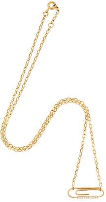 Aurelie Bidermann Paper Clip Necklace W/ Diamonds