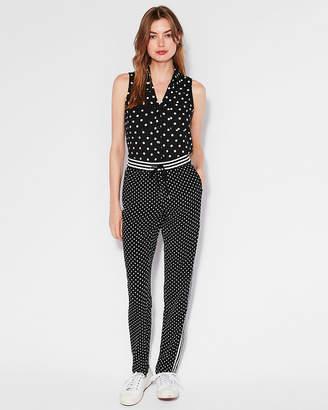 Express Slim Fit Polka Dot Sleeveless Portofino Shirt