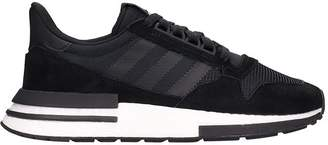 adidas Black Fabric And Suede Zx 500 Rm Sneakers