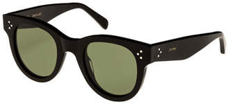 Celine Studded Acetate Sunglasses w/ Mineral Lenses, Black