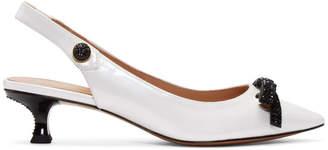 Marc Jacobs White Abbey Slingback Heels