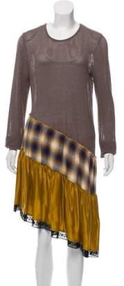 MM6 MAISON MARGIELA Scoop Neck Knee-Length Dress w/ Tags