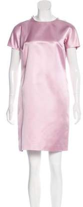 Gucci Zip-Accented Silk Dress