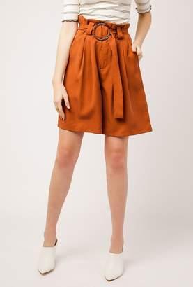 Azalea Belted Wide-Leg Shorts