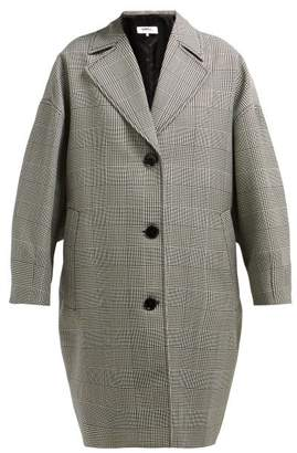 MM6 MAISON MARGIELA Prince Of Wales Checked Wool Blend Coat - Womens - Grey Multi