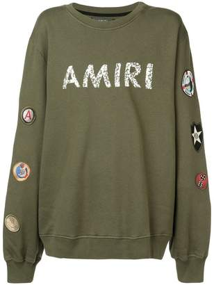 Amiri patch detail sweatshirt