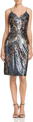 Aidan Mattox Sequin Spaghetti Strap Dress