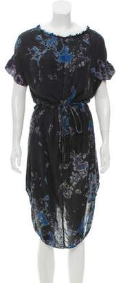 Raquel Allegra Silk Printed Dress