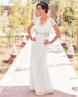 c27a37c19fa2 Joanna Hope Jewel Trim Bridal Dress