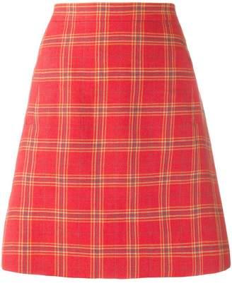 Etro plaid a-line skirt