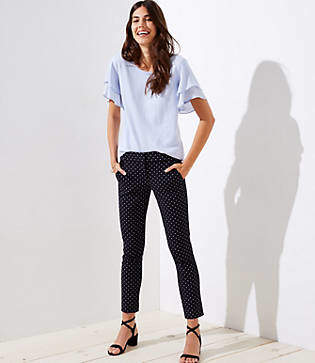 LOFT Tall Skinny Polka Dot Ankle Pants in Julie Fit