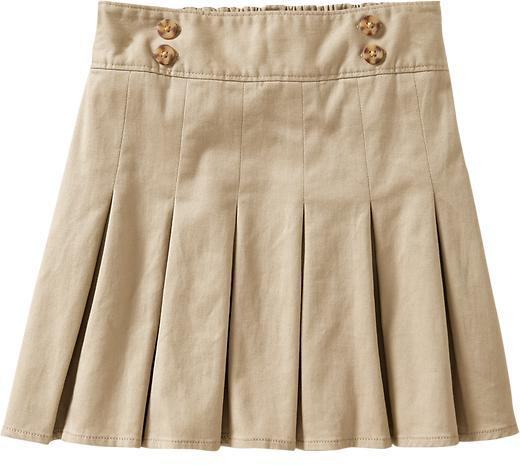 Old Navy Girls Long Pleated Uniform Skorts