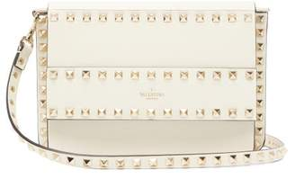 Valentino Rockstud Leather Cross Body Bag - Womens - Ivory