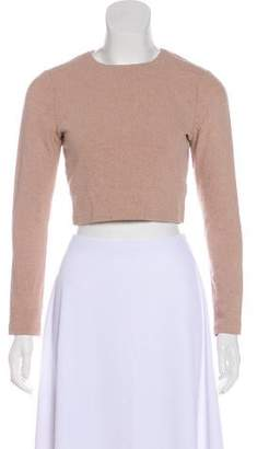 Alice + Olivia Cropped Long Sleeve Top