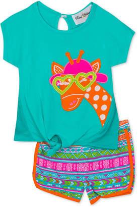 Rare Editions Baby Girls 2-Pc. Graphic-Print T-Shirt & Shorts Set
