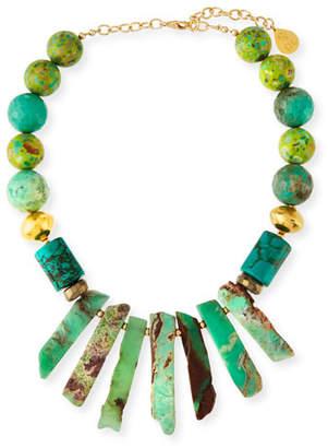 Devon Leigh Turquoise Round & Spike Necklace