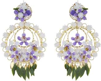 Mercedes Salazar Flower Clip On Earrings