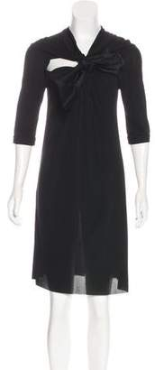 Viktor & Rolf Silk Bow-Accented Dress