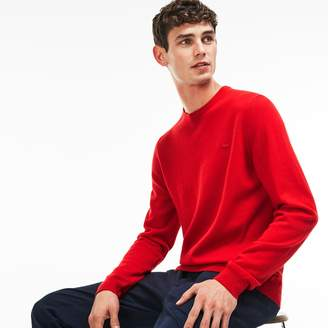 Lacoste Men's Crew Neck Cashmere Jersey Sweater