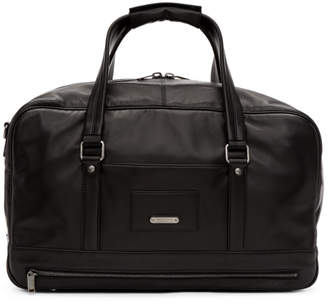 Saint Laurent Black Leather ID Duffle Bag