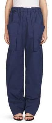 Cédric Charlier Elasticized Cotton Trousers