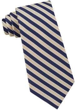Black & Brown Black Brown Fine Line Stripe Silk Tie