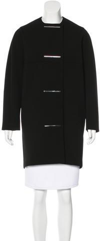 Balenciaga Balenciaga Collarless Embellished Coat