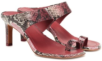 Zimmermann Strap python-printed leather sandals