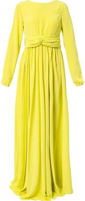 Rochas empire line long-sleeved dress