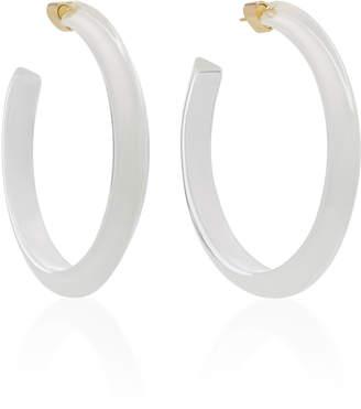 Alison Lou Medium Jelly Lucite Hoop Earrings