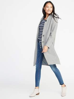 Old Navy Brushed-Knit Long-Line Coat for Women