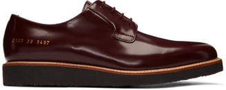 Common Projects Burgundy Crepe Sole Shine Derbys