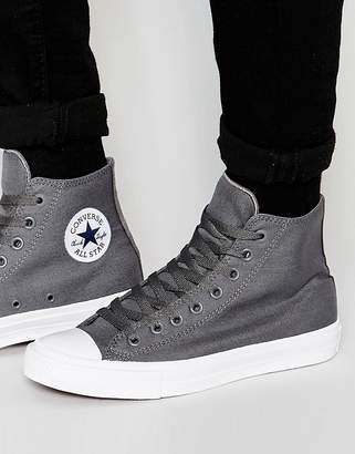 Converse Chuck Taylor All Star II Hi-Top Sneakers In Gray 150147C