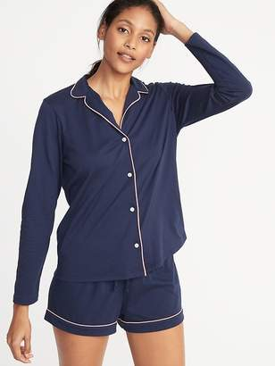 Old Navy Relaxed Button-Front Sleep Shirt for Women b5f6ce78a