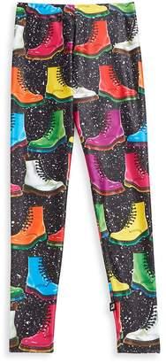 Zara Terez Girl's Graphic Boots Elasticized Leggings