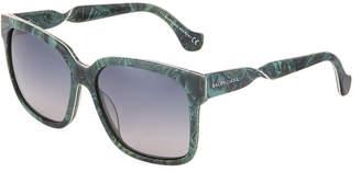 Balenciaga Square Acetate Twisted Sunglasses