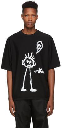 Marcelo Burlon County of Milan Black Kid Sketch T-Shirt