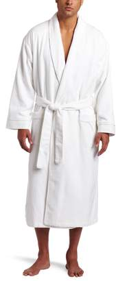 Majestic International Men's Wellington Spa Diamond Jacquard Lined Shawl Robe