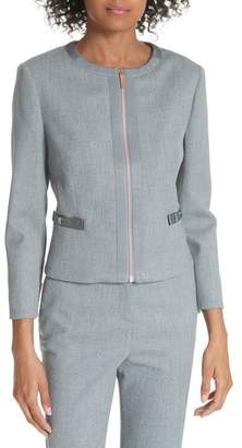 Ted Baker Ted Working Title Nadae Cropped Textured Jacket