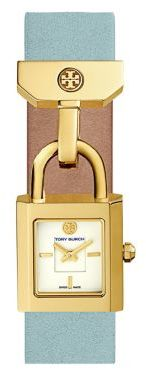 Tory Burch Tory Burch The Surrey Goldtone Stainless Steel and Leather Strap Watch