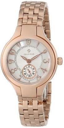 """Philip Stein Teslar Women's 44RGP-FMOP-SS5RGP""""Round Collection"""" Rose Gold-Plated Watch"""